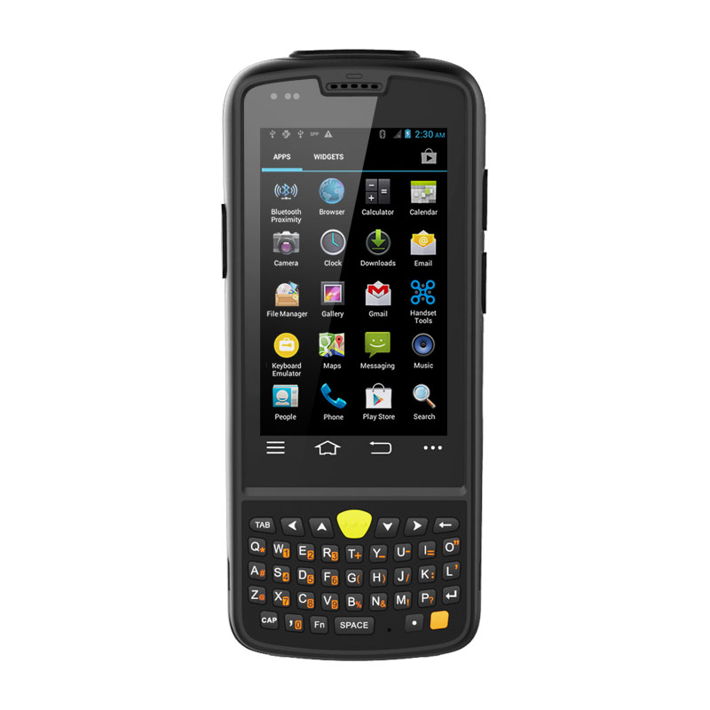 Android 4.4 rugged PDA device with barcode reader gun grip option ideal for retail warehouse